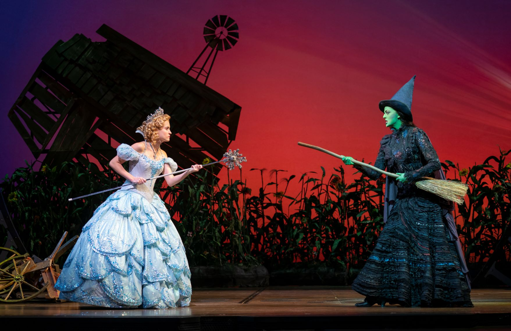 Allison Bailey & Talia Suskauer in the North American Tour of WICKED (E). Photo by Joan Marcus - resized