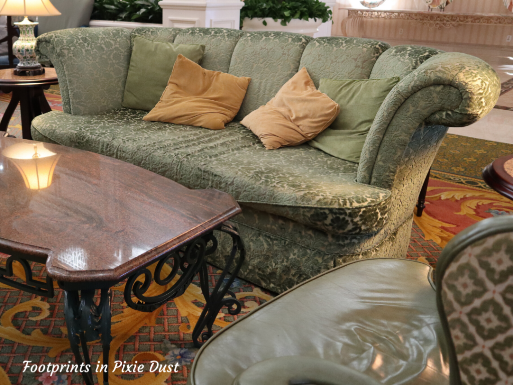 Dating Around Disney Resorts - Stately furniture in Disney's Grand Floridian Resort and Spa Lobby