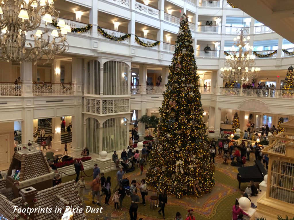 Dating Around Disney Resorts - The Lobby Christmas Tree