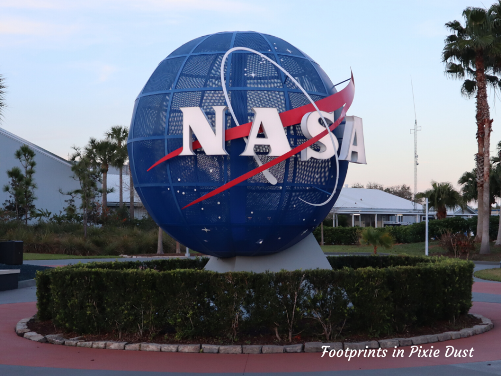 Kennedy Space Center Visitor Complex - NASA sign at entrance