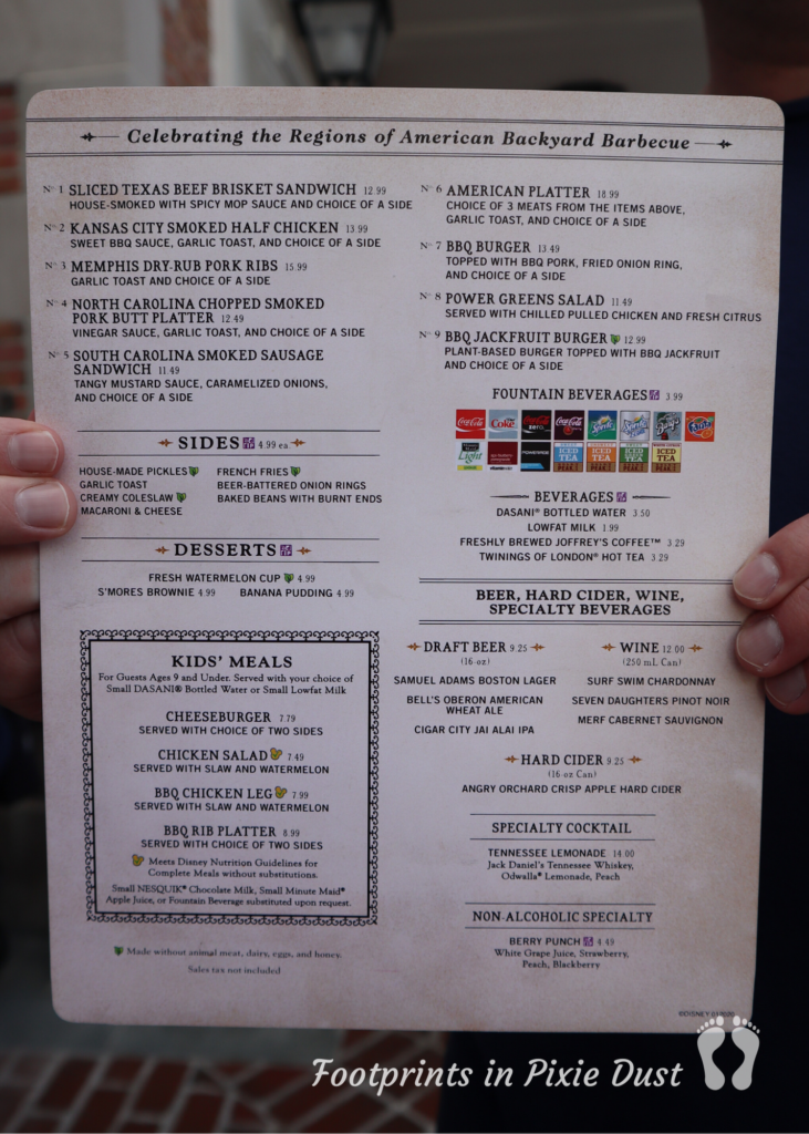 Regal Eagle Smokehouse - Regular Handheld Menu