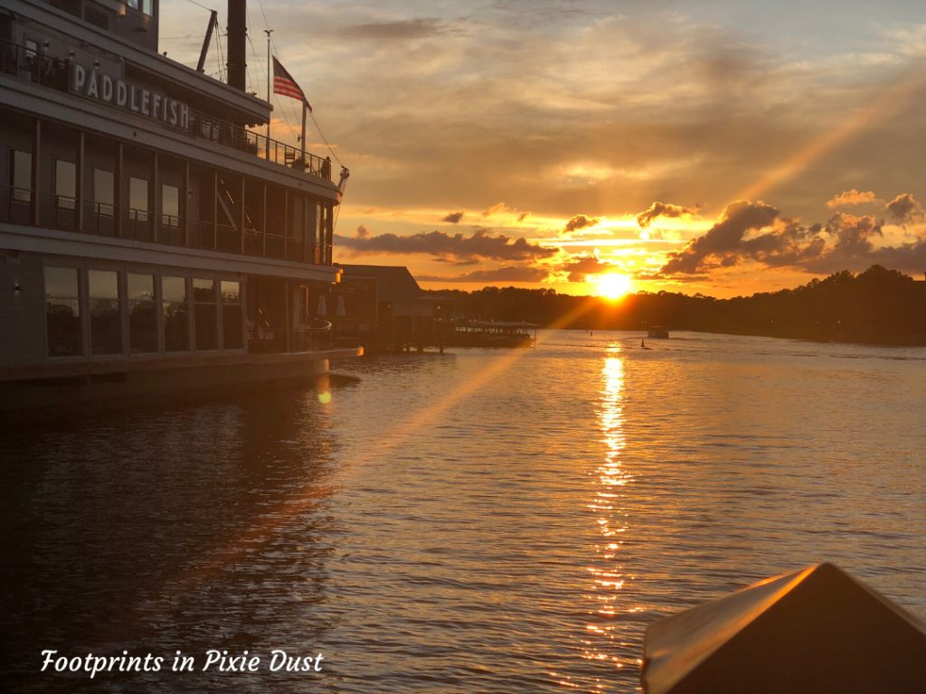 Romantic Disney Ideas - Sunset at Disney Springs