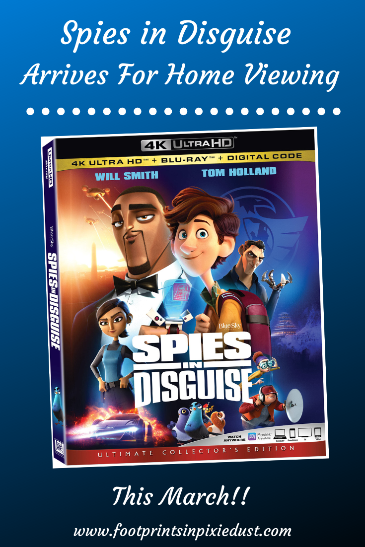 Spies in Disguise on Bluray pin