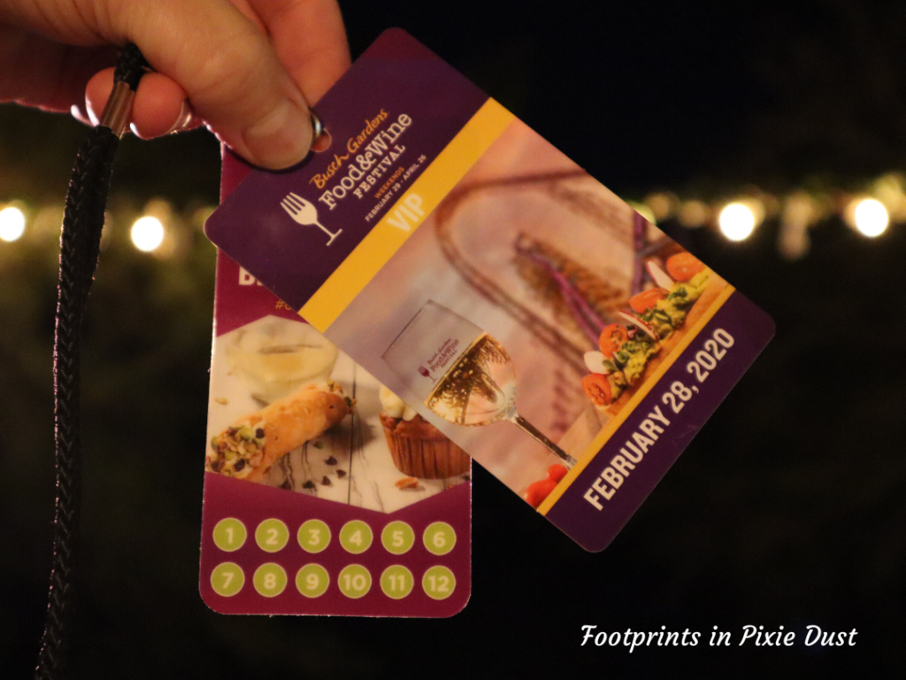 2020 Busch Gardens Food & Wine Festival - Sampler Lanyard and Media Pass
