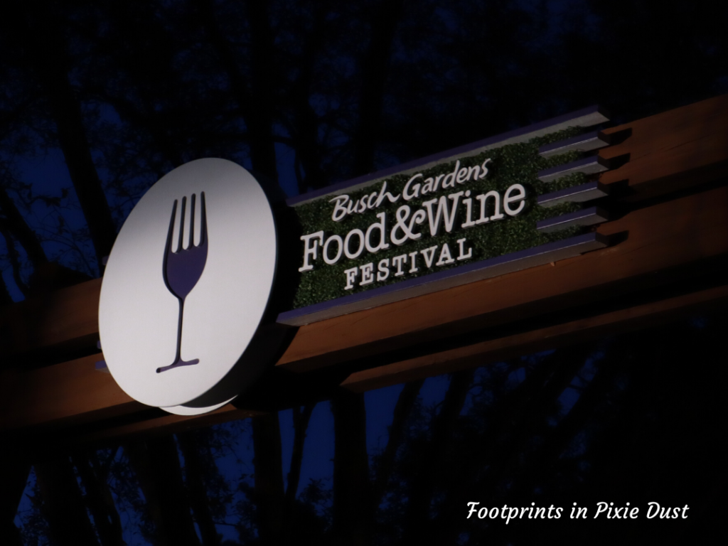 2020 Busch Gardens Food and Wine Festival Entrance