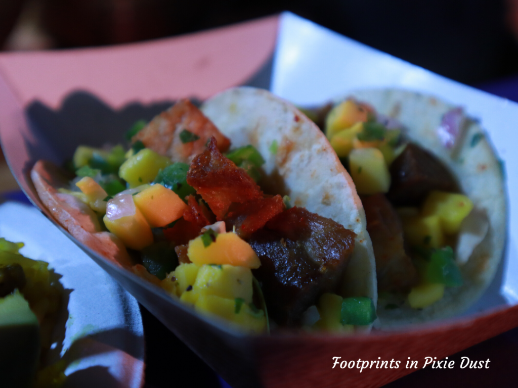2020 Busch Gardens Food and Wine Festival - Pork Belly Taco at Chef's Corner