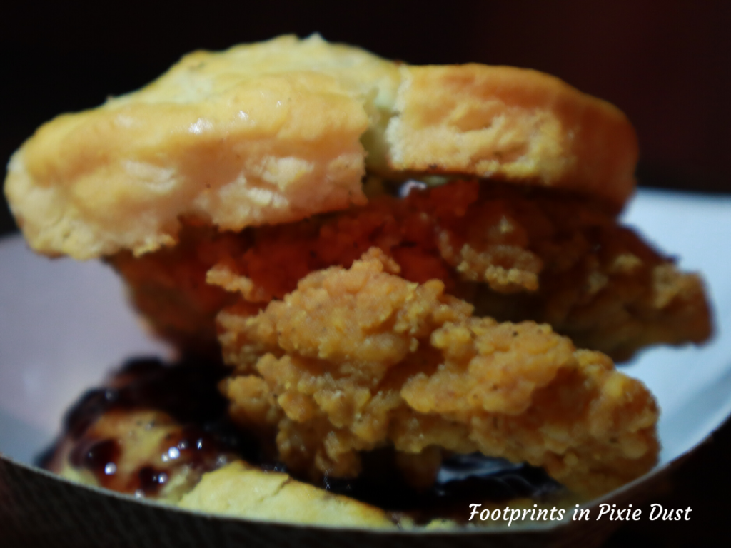 2020 Busch Gardens Food and Wine Festival - Southern Kitchen - Southern Friend Chicken and Biscuit Slider (with Bourbon Blackberry Jam)
