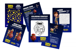 Terra Willy Activity Sheets